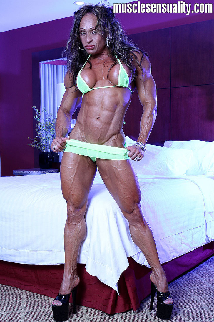 Betty Viana - Adkins Modeling Her Ripped Physique In A Bikini And Heels