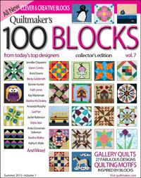 100 quilt block magazine