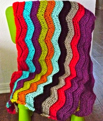 Colorful Chevron Afghan - Free Pattern