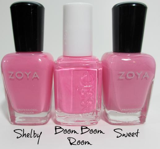 essie Boom Boom Room Zoya Shelby Zoya Sweet