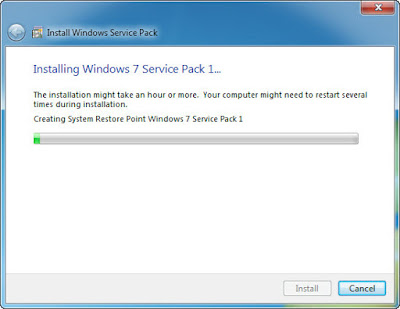 Starting Windows 7 SP1 Installation.