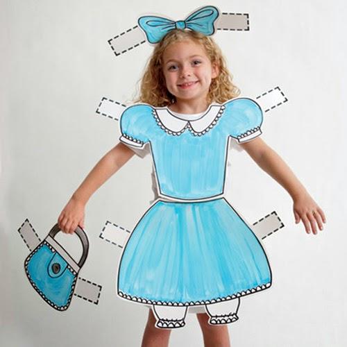Disfraz muñeca recortable Fantasia boneca recortar