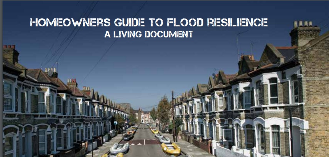 "Front cover ""Homeowners Guide To Flood Resilience"" - motherdistracted.co.uk"