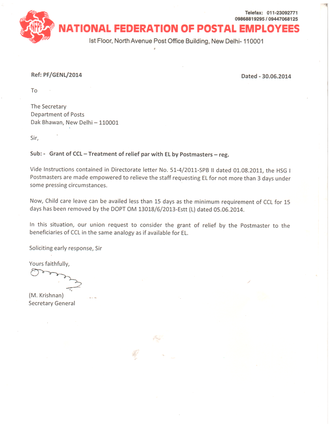 Aipeup3tn LETTER FROM SECRETARY GENERAL NFPE FOR