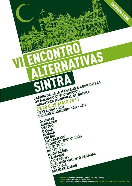 Tudo sobre Sintra Maio VI Encontro de Alternativas em Sintra
