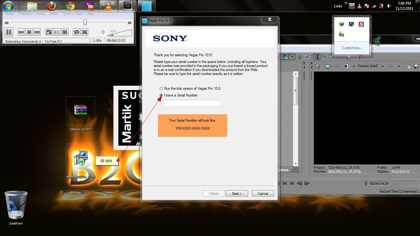 serial number sony vegas pro 11.0