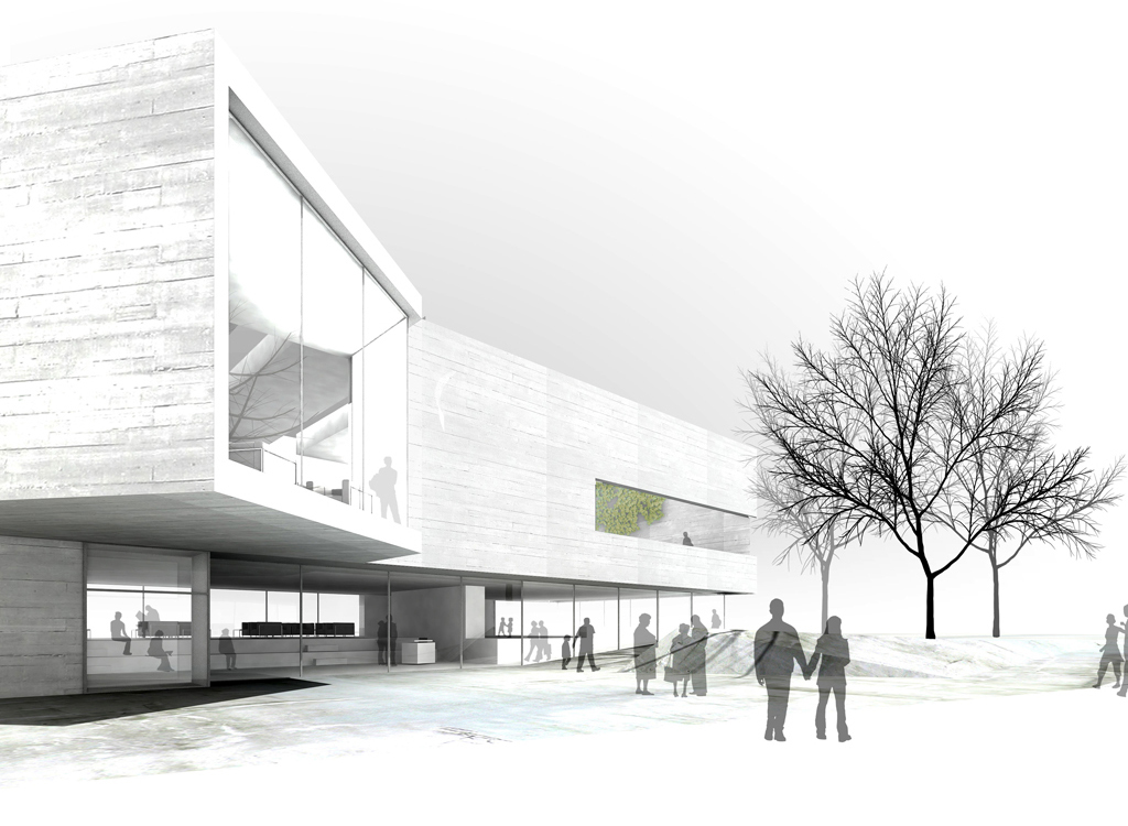 Arquitecturia nueva biblioteca en caldes de malavella for Biblioteca arquitectura