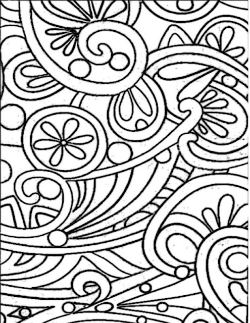 Pattern Free Printable Coloring Page