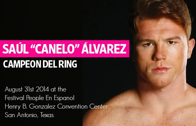 2014 People En Espanol Festival with Canelo Alvares in San Antonio, Texas