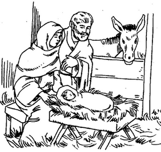 Baby Jesus Manger Coloring Page