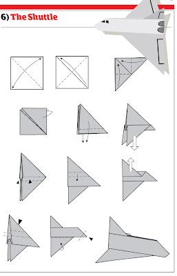 бумажный самолетик 13