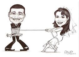 Caricatura para Convites de Casamento