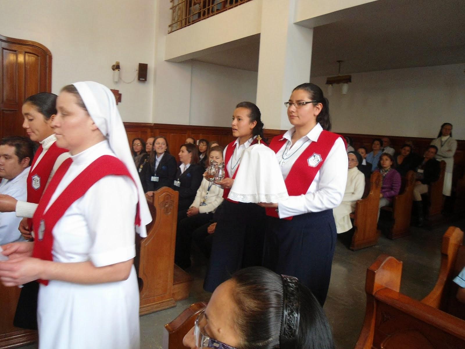 En la misa de la Clinica Palermo