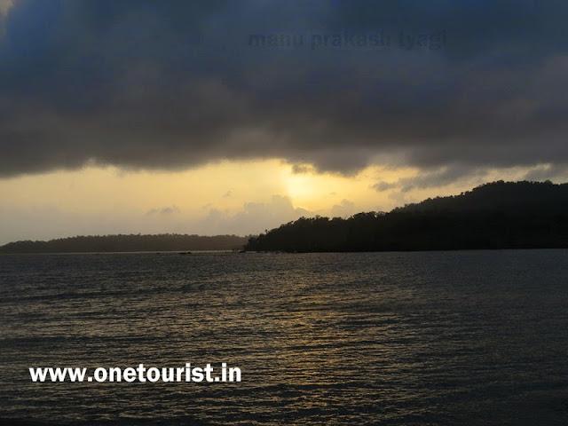 sunset at chidiya tapu ,चिडिया टापू पर सूर्यास्त