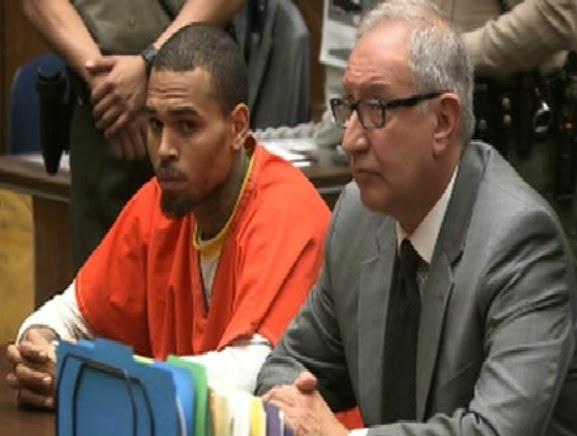 chris brown jailed