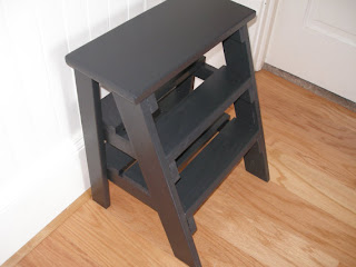 Step stool black wooden by Rustic Furnishings on etsy