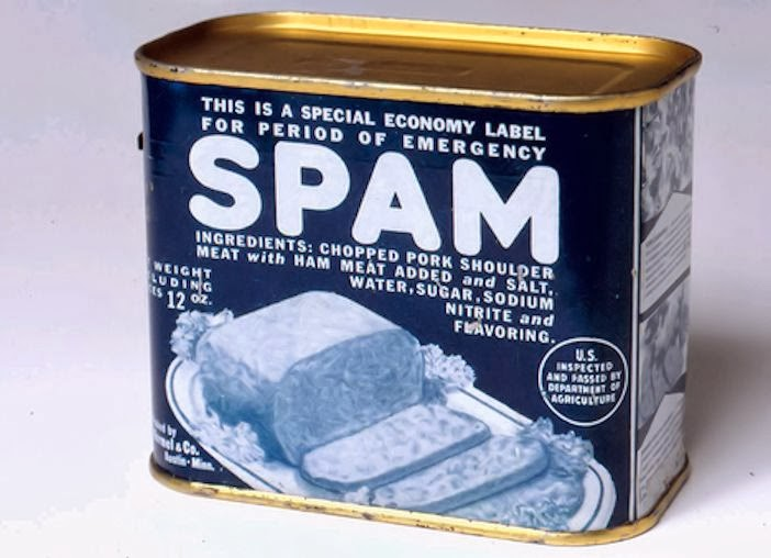 Spam, spam, spam, wonderful spam, lovely spam
