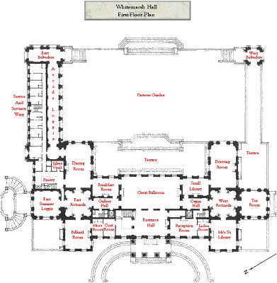 Linen Rooms Luggage Rooms Serveries And as well Stowe House furthermore Cornelius Vanderbilt Ii House 1 West 57th St Georg likewise Then Now The Lake House From What About Bob also Arthur Curtiss James Mansion New York. on highclere castle floor plans