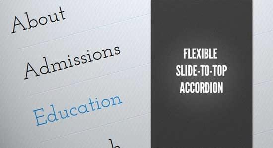 Flexible Slide-to-top Accordion