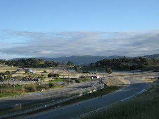 Looking down at Turn 9, Mazda Raceway Laguna Seca, Salinas, California