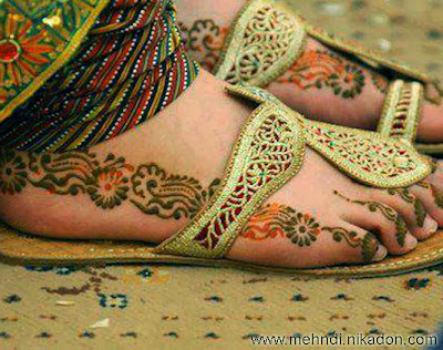 Most Viewed Feet Mehndi Designs