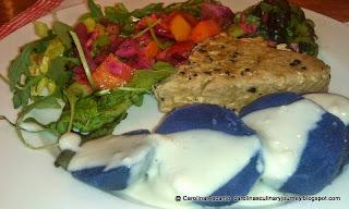 Tuna Fish with Purple Potatoes