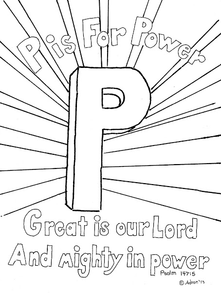 Small Letter P Coloring Page