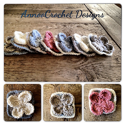free crochet pattern flower granny square