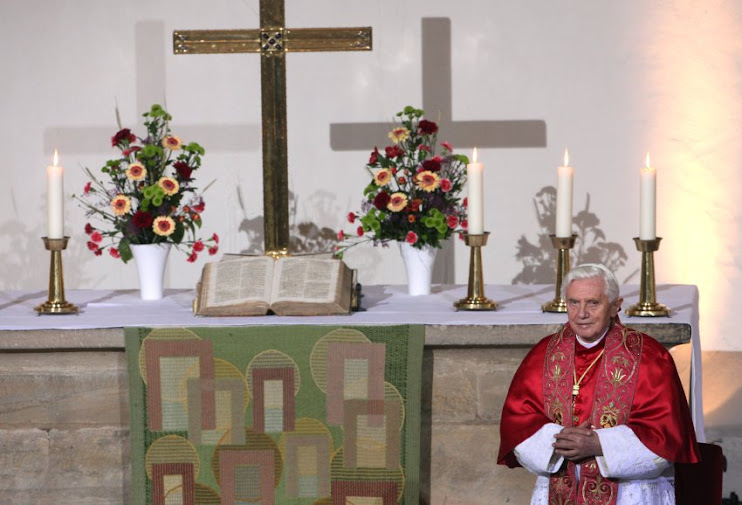 Benedictt XVI paid hommage to Martin Luther