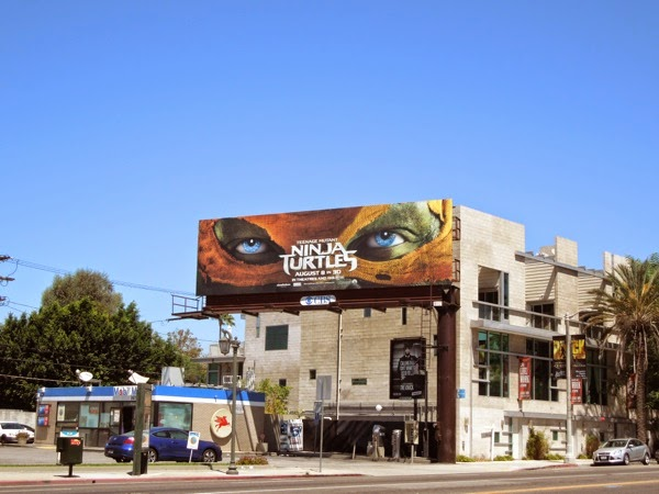 Teenage Mutant Ninja Turtles Michelangelo mask billboard