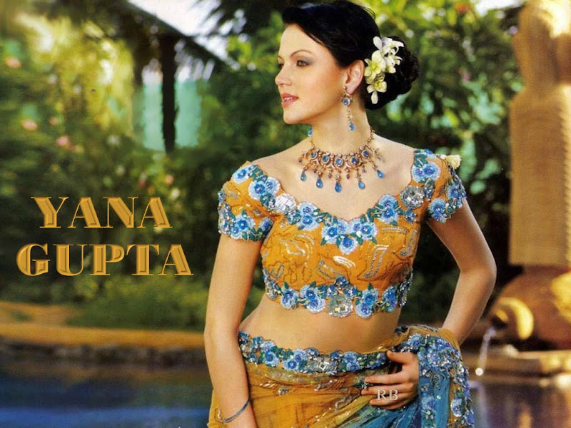 Yana Gupta latest Wallpapers  Cute girl in typical indian wears gallery pictures