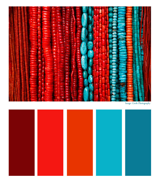 Aztec Empire Turquoise And Coral