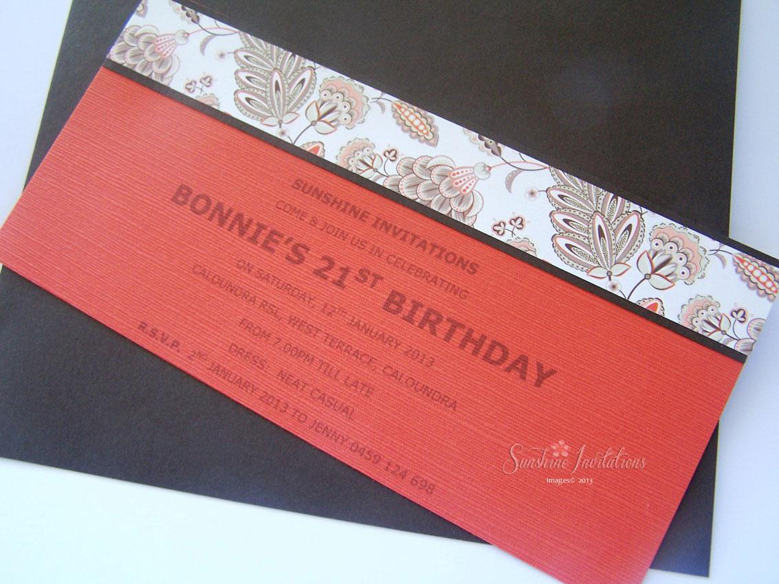 Sunshine Invitations & Bonbonniere