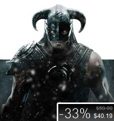 Skyrim $40 Holiday Steam sale