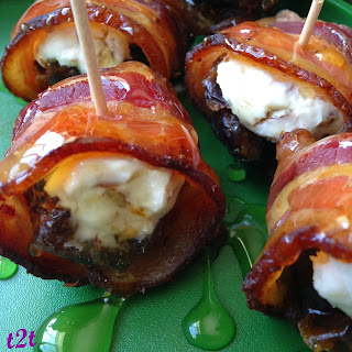 Cream Cheese Filled Dates Wrapped in Bacon from From Turnips 2 Tangerines