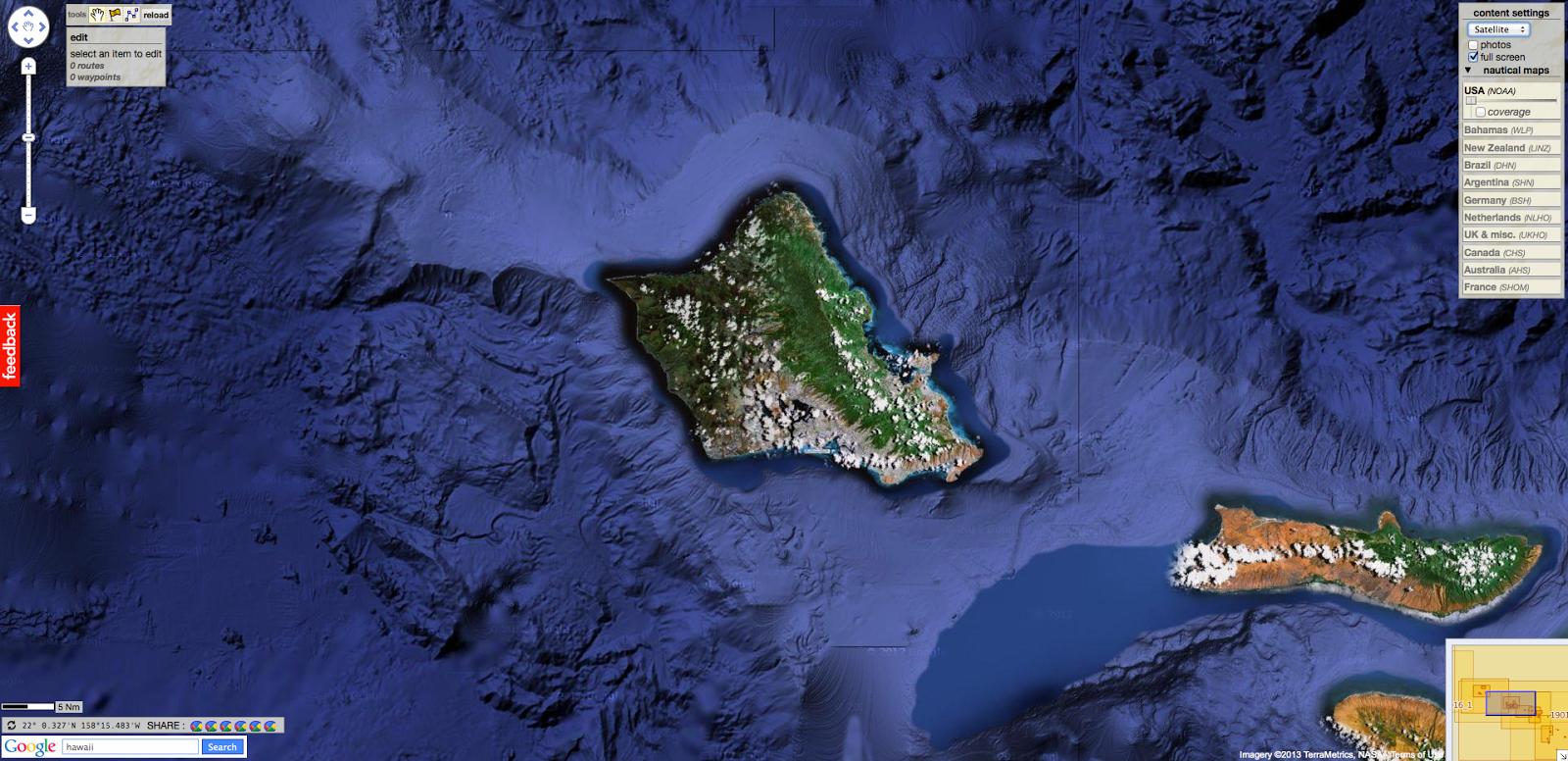 Oahu, Hawaii With Google Maps. U003eu003eu003e