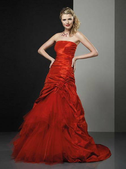 Tati mariage robe rouge