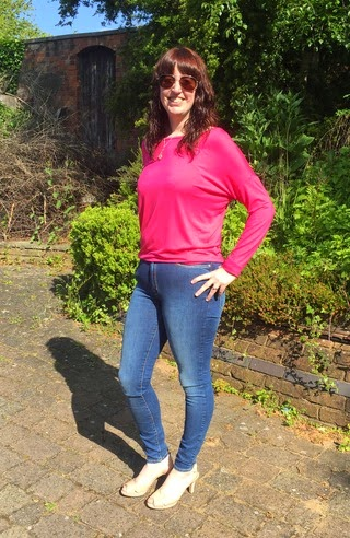 Morgan's Milieu | Magic Jeans!: Photo of Morgan Prince wearing Mango Jeans, pink top and Clarks leather shoes.