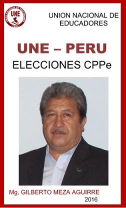 Prof. Gilberto Meza Aguirre candidato a Decano del CPPe