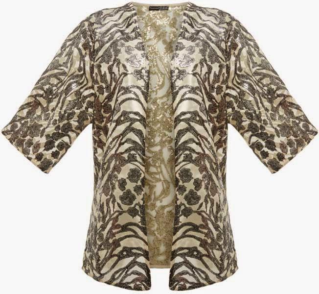 Primark online: kimono con pedrería en dorado