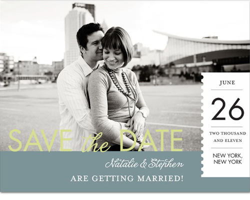 A Save The Date postcard at Wedding Paper Divas by Pinkerton Design