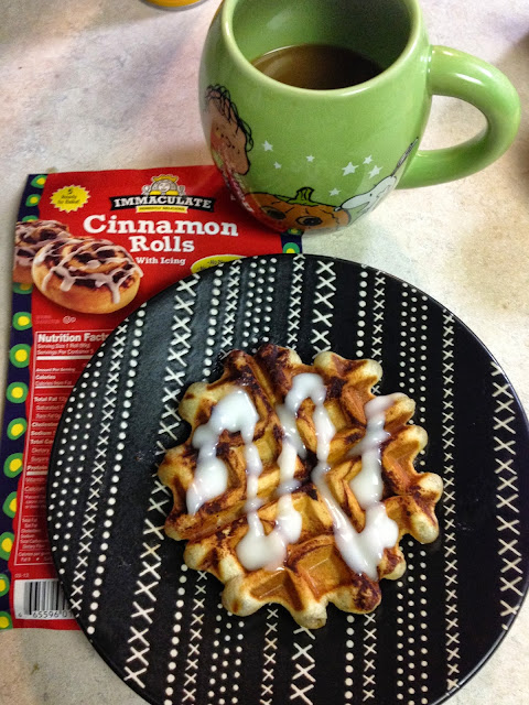 Turn Your Cinnamon Roll into a Waffle #dreamsmorerealthanreality
