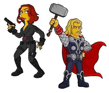 Os Vingadores em versão Os Simpsons
