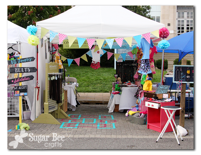 Sassy smidgens 8 craft booth ideas for Display tents for craft fairs