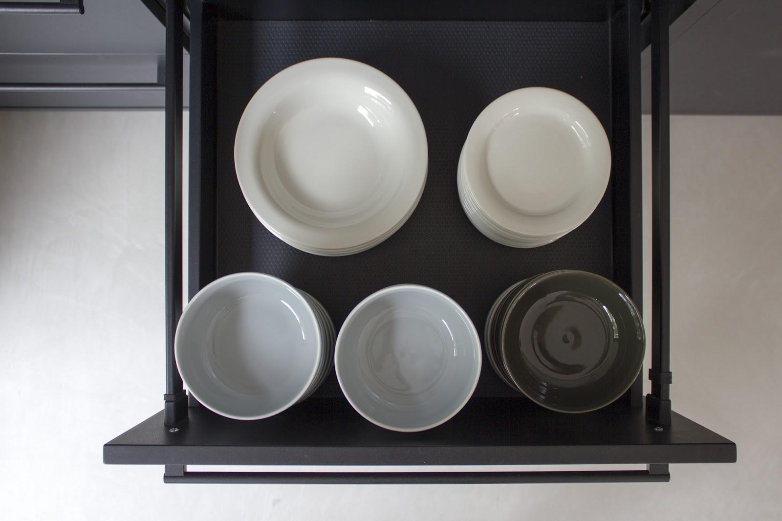 Valanti matta musta keittiö laatikot