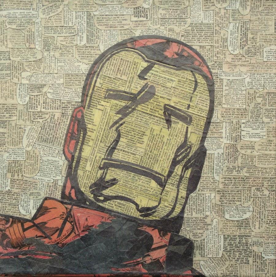 08-Ironman-Mike-Alcantara-Comic-Collage-Art-www-designstack-co