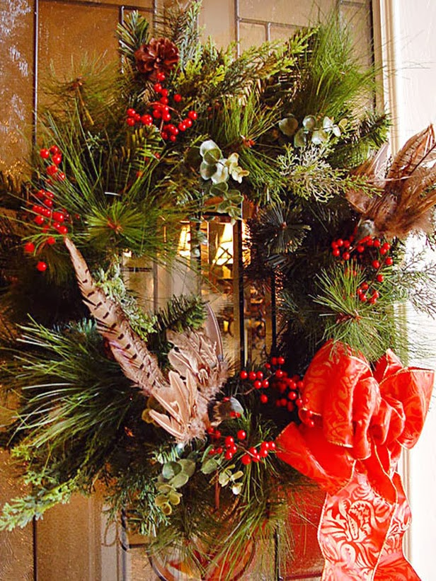 Modern furniture easy christmas wreaths 2014 ideas Simple christmas wreaths