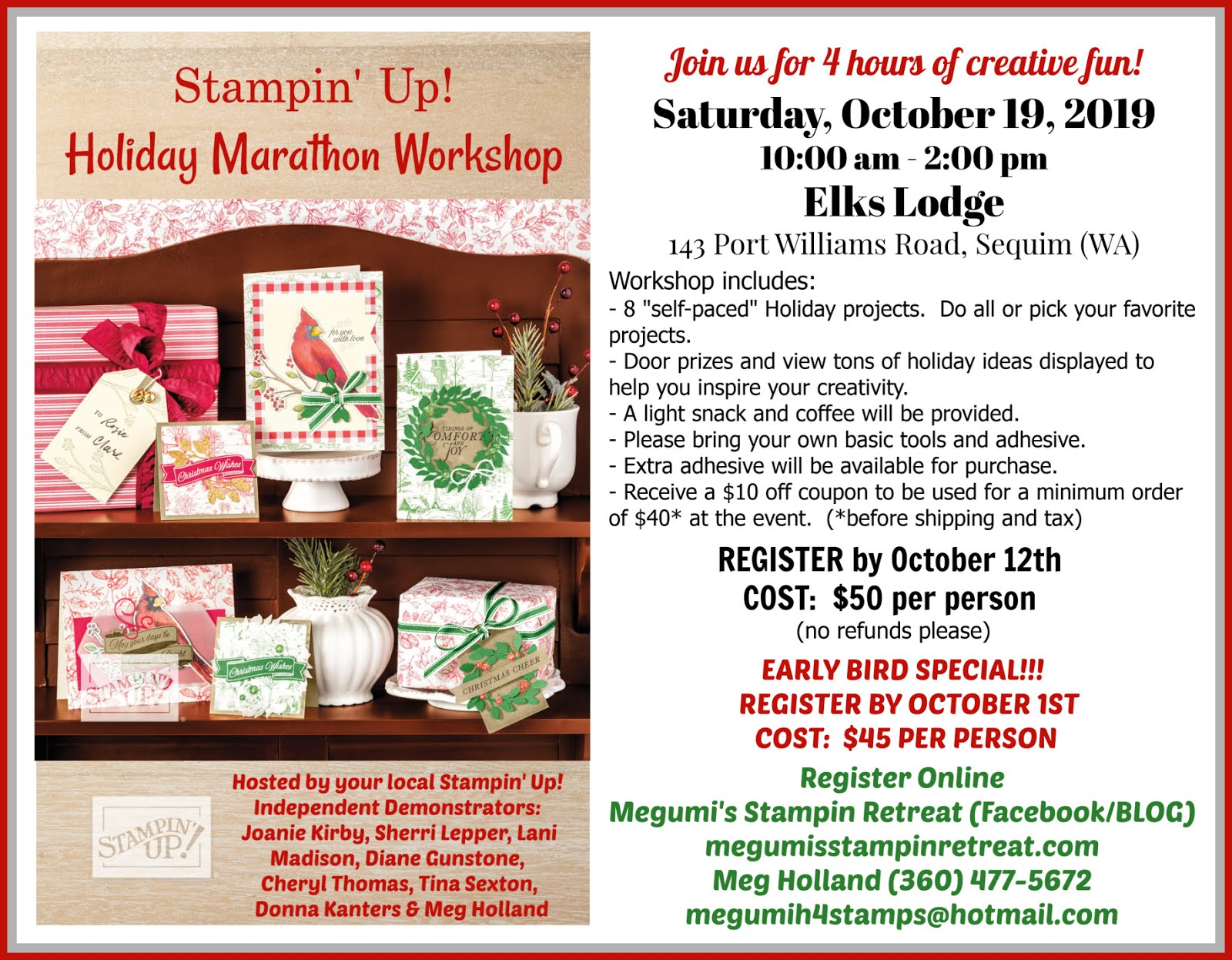 Holiday Marathon Workshop (Oct 19)