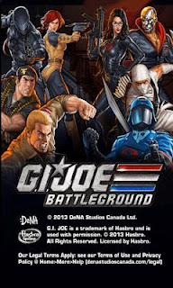 Screenshots of the G.I. Joe Battleground for Android tablet, phone.