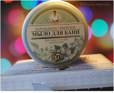 Czarne syberyjskie naturalne mydlo Babuszki Agafii.